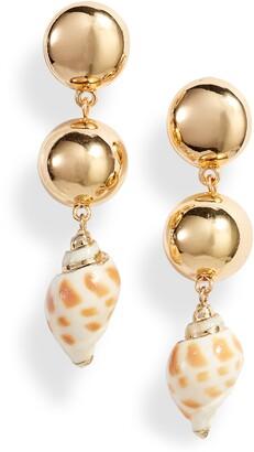 Ettika Cowshell Drop Earrings
