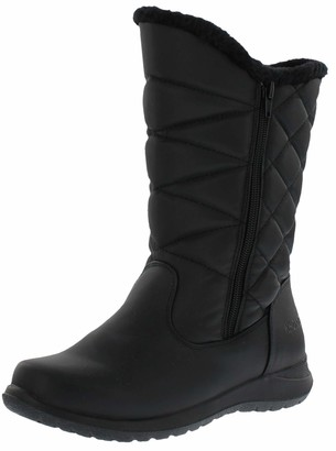 Khombu Womens Cold Weather Boots with Dual Zipper Closures (Carly) Waterproof Insulated Mid-Calf Winter Boots for Comfort - Keeps Feet Warm & Dry