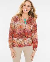 Chico's Long Paisley Top