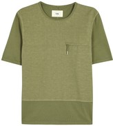 Folk Olive Linen And Cotton Blend Shirt