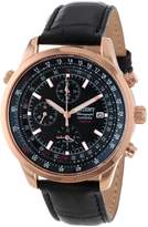 Orient Men's CTD09004B Chronograph with Rose Gold Tone with Date and Internal Rotating Ring with Slide Rule Calculator Watch