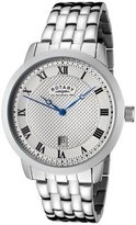 Rotary GB42825/01 Men's Silver Textured Dial Stainless Steel Watch