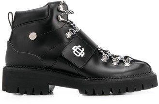 DSQUARED2 Arch-Strap Hiking Ankle Boots