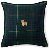 Ralph Lauren Lexi Embroidered Yorkshire Terrier Plaid Pillow