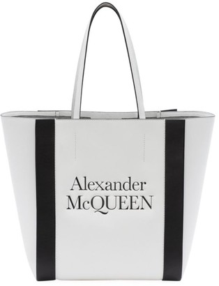 Alexander McQueen Signature Logo Leather Shopper