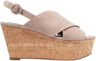 Diane von Furstenberg Suede Platform Wedge Sandals