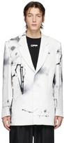 Off-White Off White White Futura Abstract Blazer