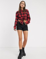 Noisy May Lucy denim roll up shorts