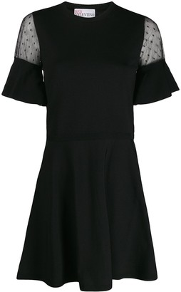 RED Valentino sheer details short dress