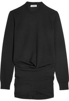 Jil Sander Ruched Wool Sweater - Black