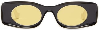 Loewe Paula's Ibiza - Square Acetate Sunglasses - Black Yellow