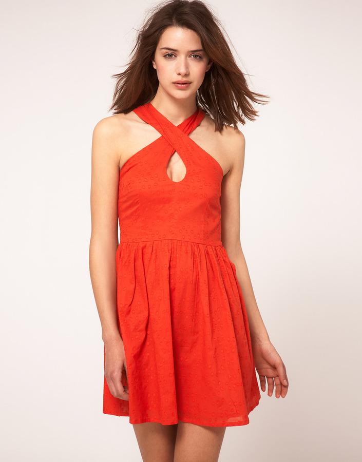 Asos Summer Dress In Bow Back