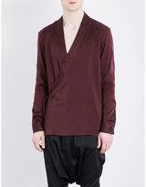 Balmain Regular-fit Silk Kimono Shirt