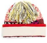 Burberry Patchwork wool-blend beanie hat