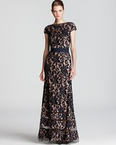 Tadashi Shoji Lace Gown - Cap Sleeve