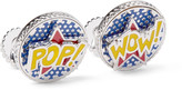 Tateossian - Rotating Pop & Wow Rhodium-plated Enamel Cufflinks