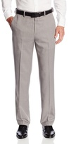 Haggar Men's Micro-Check Plain-Front Pant