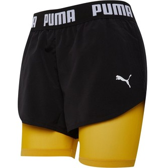 Puma Womens Woven Shorts Black/Yellow