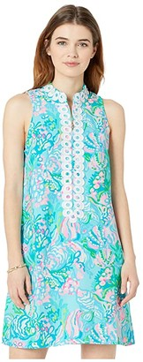 Lilly Pulitzer Jane Shift Dress (Blue Ibiza Aqua La Vista) Women's Dress