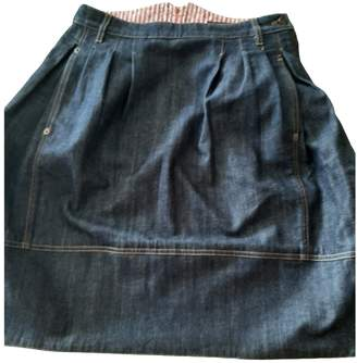 Louis Vuitton Blue Denim - Jeans Skirt for Women