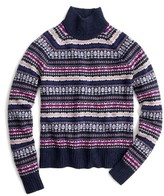 J.Crew Women's Fair Isle Turtleneck Sweater