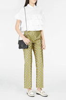 Giamba Floral Jacquard Cropped Trousers