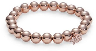 Sydney Evan 14K Rose Gold & Diamond XO Charm Beaded Bracelet
