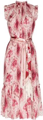 Zimmermann Ikat print sleeveless midi dress