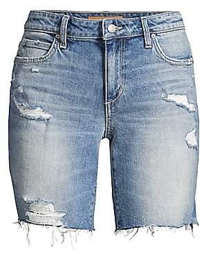 Joe's Jeans Women's Bermuda Distressed Denim Shorts