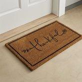 Crate & Barrel Thankful Coir Doormat