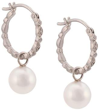 Cathy Waterman pearl seed hoop earrings