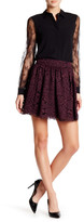 Alice + Olivia Fizer Lace Box Pleat Skirt