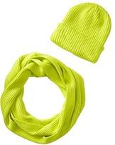 San Diego Hat Company KNH3338 Knit Scarf & Beanie Set