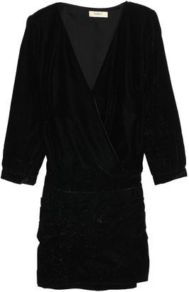 BA&SH Wrap-effect Velvet Mini Dress