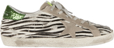 Golden Goose Deluxe Brand Superstar Zebra Haircalf Sneakers