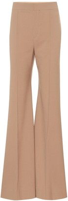Chloã© Stretch-wool high-rise flared pants