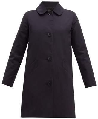 A.P.C. Poupee Cotton Blend Gabardine Coat - Womens - Navy