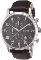 HUGO BOSS Men's 1512570 Leather Analog Quartz Watch