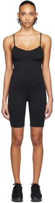 Live The Process Black Corset Shorts Bodysuit