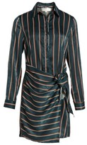 J.o.a. Women's Tie Front Stripe Shirtdress