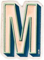 Anya Hindmarch 'M' sticker - women - Goat Skin - One Size