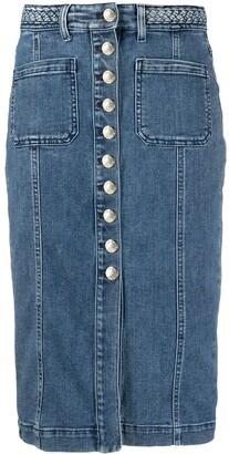 Pinko Denim Pencil Skirt