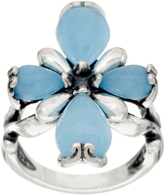 Carolyn Pollack Sterling Embrace the Stone Jade Ring