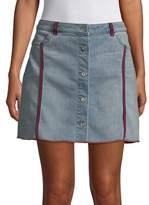T Tahari Aliyah Stripe Denim Skirt