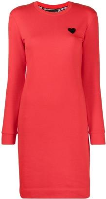 Love Moschino Logo-Plaque Bodycon Mini Dress