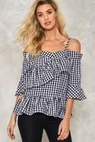 Nasty Gal Check You Later Gingham Top