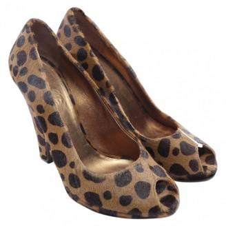 Miu Miu Brown Velvet Heels
