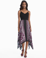 White House Black Market Scarf Print Dress