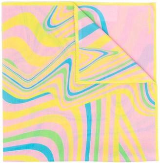 Acne Studios Printed Silk-Blend Scarf