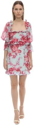 Alice McCall Printed Silk & Cotton Voile Mini Dress